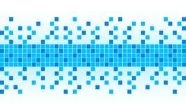 Priorità bassa blu del pixel Immagine Stock