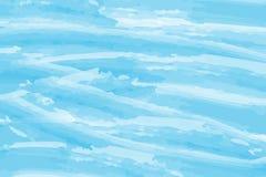 Priorità bassa blu dell'estratto dell'acquerello Nuvole, cielo, onde del mare Modello di colore Illustrazione di vettore ENV 10 illustrazione vettoriale