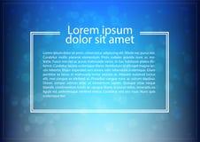Priorità bassa blu dell'estratto del bokeh Illustrazione di vettore Fotografia Stock Libera da Diritti