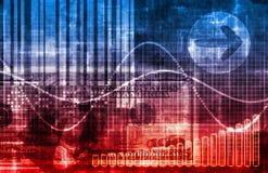 Priorità bassa blu dell'estratto del sistema economico illustrazione vettoriale
