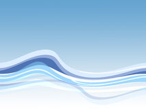 Priorità bassa blu dell'onda illustrazione di stock