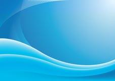 Priorità bassa blu dell'onda Fotografie Stock Libere da Diritti