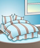 Priorità bassa blu della camera da letto Immagine Stock Libera da Diritti