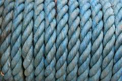 Priorità bassa blu della corda Fotografie Stock Libere da Diritti