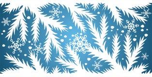Priorità bassa blu della neve Immagine Stock