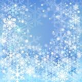 Priorità bassa blu della neve Fotografie Stock Libere da Diritti