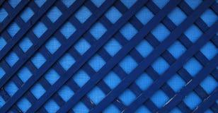 Priorità bassa blu della tela di canapa e di legno Fotografie Stock