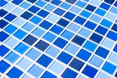 Priorità bassa blu delle mattonelle Immagini Stock
