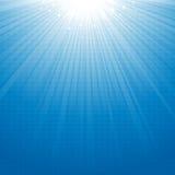 Priorità bassa blu dello starburst Fotografia Stock Libera da Diritti