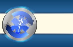 Priorità bassa blu di affari di salute medica royalty illustrazione gratis