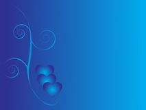 Priorità bassa blu di amore illustrazione di stock