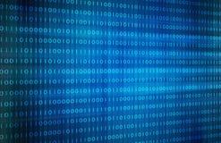 Priorità bassa blu di codice binario immagine di sfondo dell'illustrazione Fotografia Stock