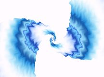 Priorità bassa blu di frattalo Profilo ondulato variopinto sul contesto bianco Fuoco concentrare Arte digitale moderna luminosa G Fotografia Stock Libera da Diritti