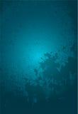 Priorità bassa blu di Grunge Fotografia Stock