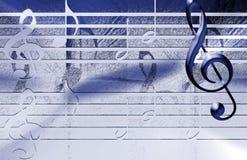 Priorità bassa blu di musica Fotografia Stock Libera da Diritti