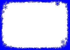 Priorità bassa blu di natale con i fiocchi di neve Fotografie Stock Libere da Diritti