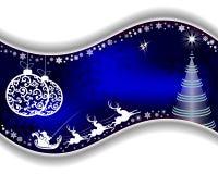 Priorità bassa blu di natale con il Babbo Natale royalty illustrazione gratis