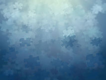 Priorità bassa blu di puzzle Immagine Stock Libera da Diritti