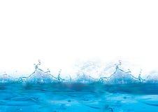 Priorità bassa blu e ghiacciata fredda Immagine Stock