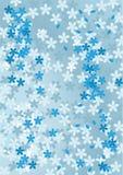 Priorità bassa blu floreale astratta Fotografia Stock