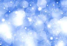 Priorità bassa blu Glittery di natale Immagine Stock