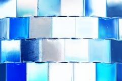 Priorità bassa blu lucida Fotografia Stock