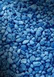 Priorità bassa blu regolare della pietra decorativa Fotografia Stock Libera da Diritti