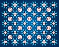 Priorità bassa blu scuro del fiocco di neve Immagini Stock Libere da Diritti