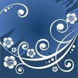 Priorità bassa blu scuro del fiore illustrazione di stock