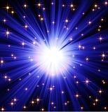 Priorità bassa blu stellata Immagini Stock