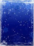 Priorità bassa blu verticale di inverno del grunge Fotografia Stock Libera da Diritti