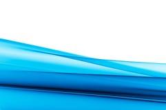 Priorità bassa blu vibrante su bianco Fotografia Stock Libera da Diritti