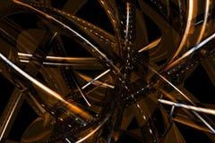 Priorità bassa bronze astratta 3D Fotografie Stock Libere da Diritti