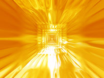 Priorità bassa calda dell'oro astratto Fotografia Stock
