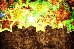 Priorità bassa casuale delle stelle di Grunge Immagine Stock Libera da Diritti