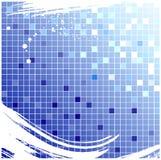 Priorità bassa checkered blu Fotografia Stock