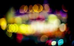 Priorità bassa chiara del bokeh di notte Fotografia Stock