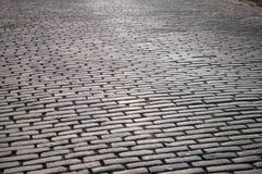 Priorità bassa Cobbled della via Immagini Stock Libere da Diritti