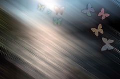 Priorità bassa colorata con la farfalla illustrazione di stock
