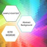 Priorità bassa colorata Pubblicità della bandiera disposizione di presentazione - Vektorgrafik illustrazione di stock