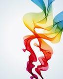 Priorità bassa Colourful del fumo Fotografie Stock