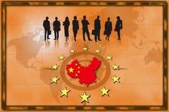Priorità bassa commerciale Cina Immagini Stock