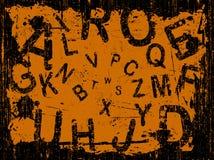 Priorità bassa completa di Grunge della lettera Fotografia Stock Libera da Diritti