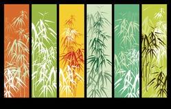 Priorità bassa con bambù Immagini Stock