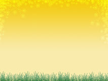 Priorità bassa con erba e flusso Immagine Stock Libera da Diritti