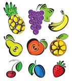 Priorità bassa con frutta Fotografia Stock Libera da Diritti