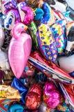 Priorità bassa con gli aerostati colorati fotografia stock libera da diritti