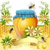 Priorità bassa con gli api Fotografie Stock Libere da Diritti