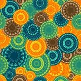 Priorità bassa con gli ornamenti orientali colorati Fotografia Stock