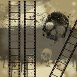 Priorità bassa con Grunge Filmstrip Illustrazione di Stock